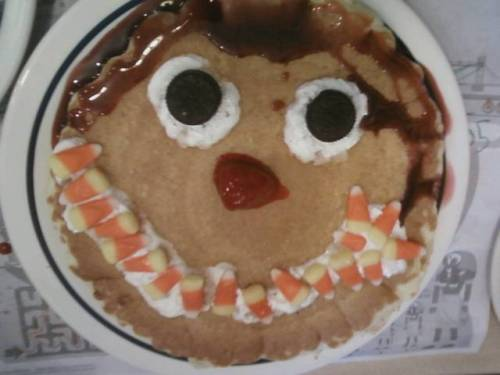 GirlChild's scary face pancake (2013, age 5)